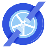 Blue tire icon with a seat belt overlay over top of it.